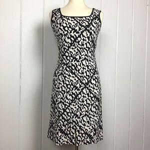 Joseph Ribkoff Black / White Sleeveless Dress - 8